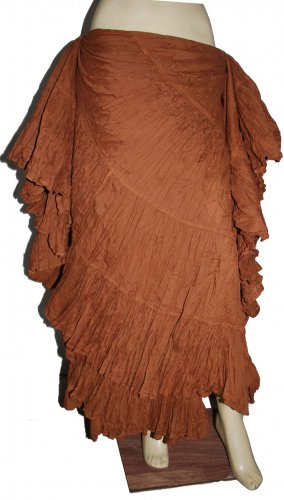 Brown Hand made tribal belly dance skirt uk