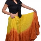 25 yard tribal skirts - dip dye skirts worldwide Ship