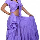 25 Yard Cotton skirt and Cotton Gypsy Top Set - Belly Dance Costume