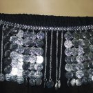 Metal belt for belly dancers in silver coin tribal dancer