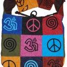 Ladies Patch Bohemian/Hippie Sling Cross Body Monk Bag - 5 Pcs Pack