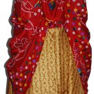 5 Pcs Reversible 3/4 India Wrap Around magic Wrap Skirt - Art Silk