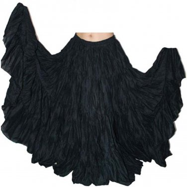 Indiantrend 25 Yard Belly Dance Skirt - Black