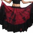 Indiantrend 25 Yard Belly Dance Skirt - Dark Maroon Tie Dye