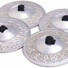 2 pairs Belly Dance Silver Finger Cymbals Zills