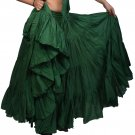 Indiantrend 25 Yard Belly Dance Skirt UK - Dark Green