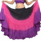 Indiantrend 25 Yard Belly Dance Skirt - Black/Hotpink/Purple