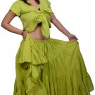 Indiantrend 25 Yard Arabic Belly Dance Skirt - Lime Green