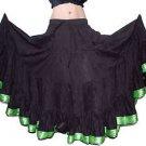25 yard gypsy skirt Cotton Green Lace