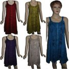 10 Stonewash Embroidery Mid Length Sleeveless Maxi Dresses - Mix Designs