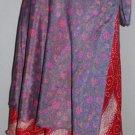50 Vintage Silk Sari Magic wrap skirts medium in height
