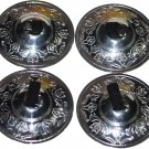 Arabic design belly dancer zills Silver finger cymbals 4Pcs