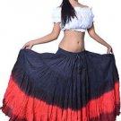 Indiantrend 25 Yard Belly Dance Skirt - Black/Red/Dark Red