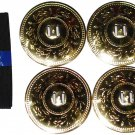 "BELLY DANCE HIGH QUALITY 2"" FINGER CYMBALS GOLD ZILLS 4 PCS"