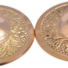 4 pcs Golden Zills with Design