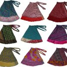 5 Pcs Magic Wrap Skirts! Vintage 2 layer Indian Wrap Skirts