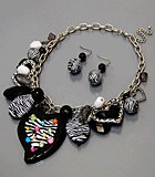 Wild Charm Necklace Set (Necklace, Earrings & Bracelet)