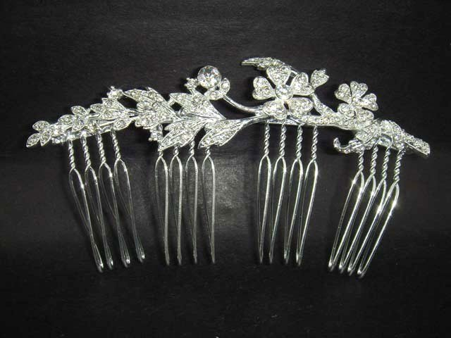 Bridal Rhinestone crystal Wedding Tiara Hair Comb RB297
