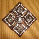 Rhombus Vintage style Rhinestone Brooch pin PI259
