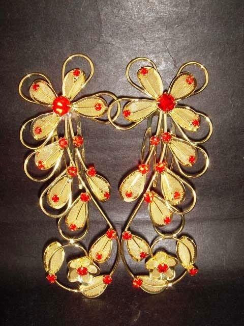 Bridal Crystal Rhinestone Flower Hair tiara Comb RB358
