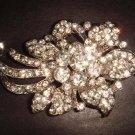 Bridal Bling Vintage style Rhinestone Brooch pin PI343