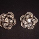 2 pc Bridal dress Flower Rose Rhinestone button BN5