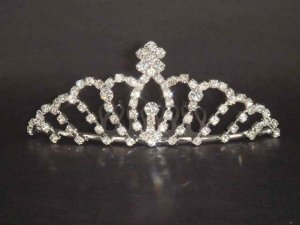 Wedding Bridal Rhinestone Hair crown Comb tiara C37