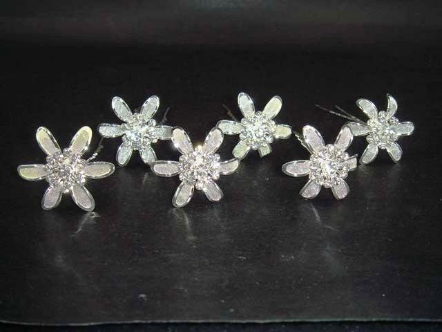 6 pcs Bridal Rhinestone Hairpin Hair tiara pin RP119