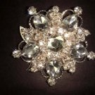 Bridal Crystal bling Rhinestone Brooch pin Pi179