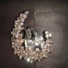 Bridal dress cake moon Rhinestone Brooch pin Pi403
