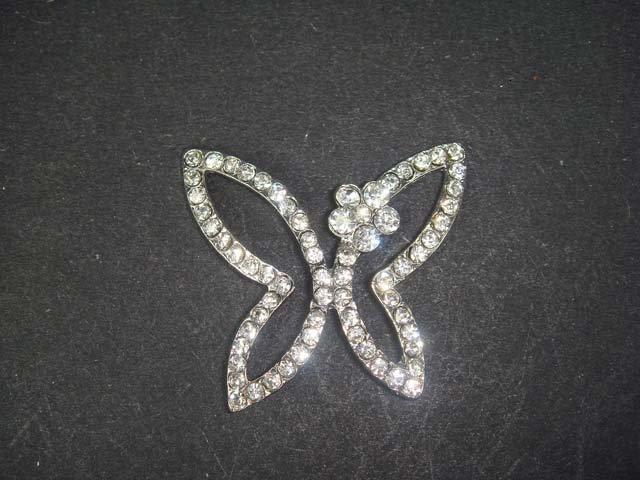 Bridal dress Butterfly Crystal Rhinestone button BN6