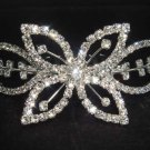 Bridal Rhinestone Flower Crystal Hair tiara Comb RB438