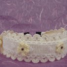 Bridal Flower girl Ivory Pink Crochet Headband HR121