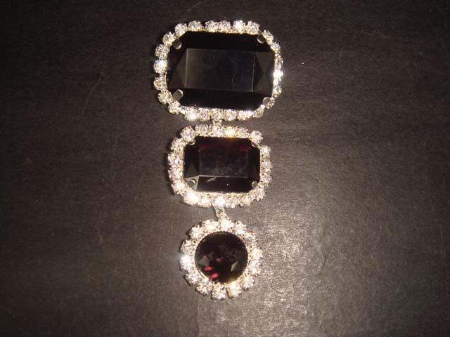 Bridal Rectangle dangle Rhinestone Brooch pin PI229