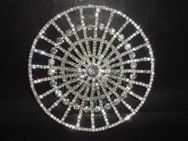 Bridal Rhinestone Hat Crystal Hair tiara Comb RB439