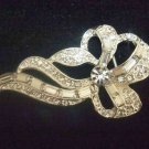 Bridal Vintage style Rhinestone Brooch tiara pin PI435