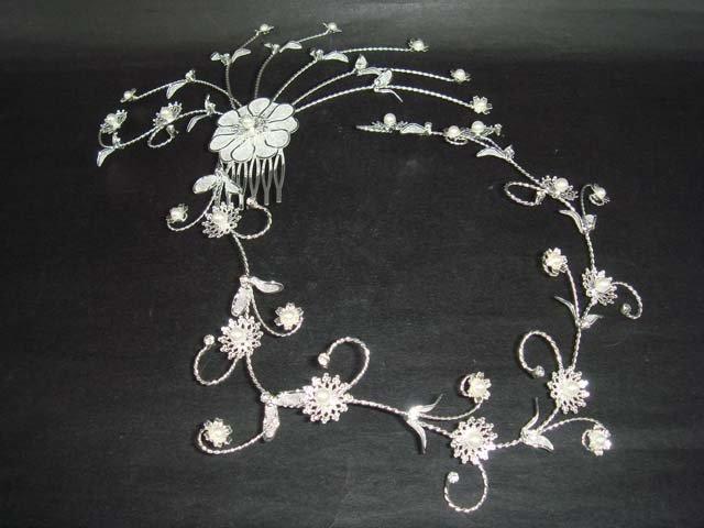 Bridal Vintage style Rhinestone Hair tiara Comb RB356
