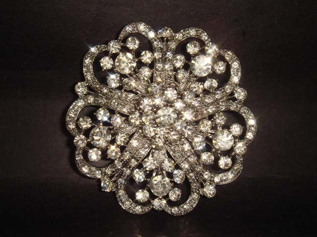 5 pc Bridal Vintage style Rhinestone Brooch pin PI183