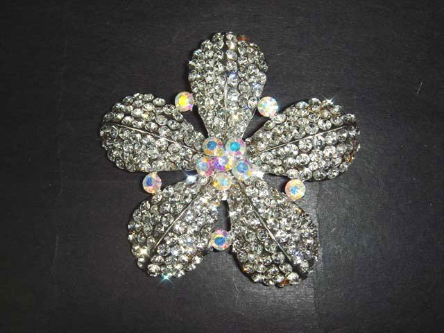 Bridal Flower Vintage style Rhinestone Brooch pin Pi284