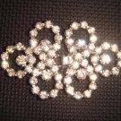 Dress Crystal Rhinestone clasp hook buckle button BU09