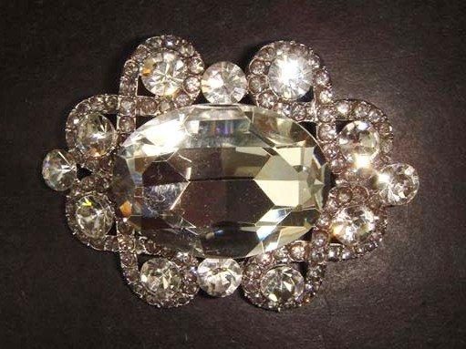 Bridal dress Vintage style Rhinestone Brooch pin PI279