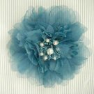 Blue Pink Bridal Wedding Hair silk Flower Clip pin BA62