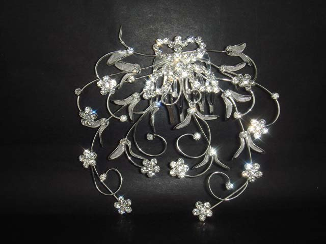 Bridal Rhinestone Butterfly Hair tiara Comb RB31