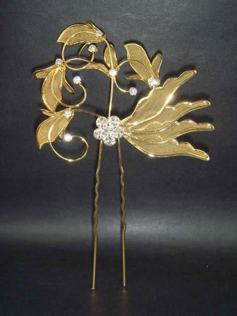 Bridal Crystal Rhinestone Flower Hair pin Hairpin RP78