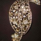 Bridal dress Leaf crystal Rhinestone Brooch pin Pi296