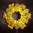 Bridal Crystal Wreath Rhinestone Brooch pin PI118