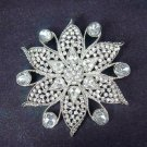 Bridal dress cake Flower Rhinestone Brooch pin Pi420