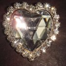 Bridal Heart Bling sparkle Rhinestone Brooch pin PI218