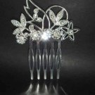 Bridal flower Crystal tiara rhinestone hair comb RB150