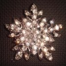 Bridal dress vintage style Rhinestone Brooch pin PI385